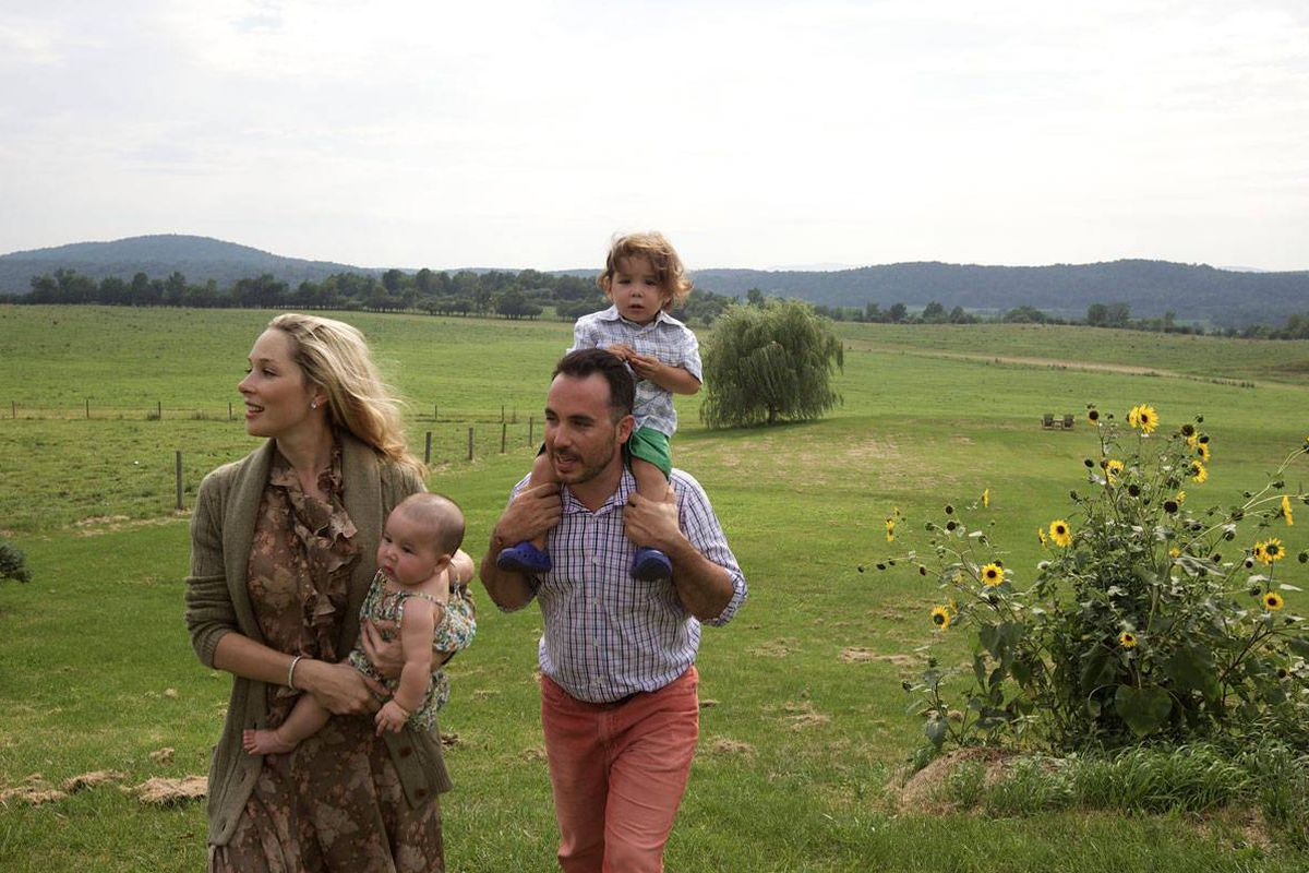 Tata and her brood, on their Vermont farm. Image via Tata Harper Skin Care/Facebook