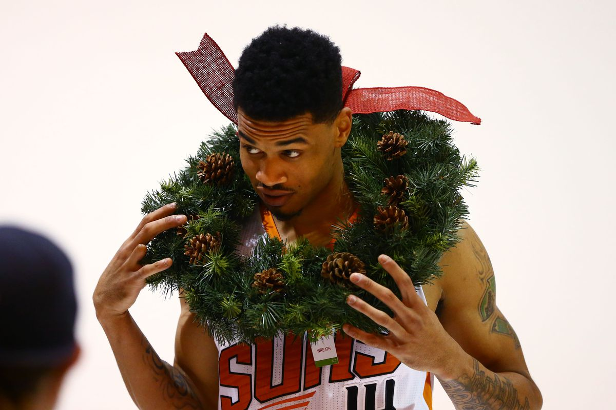 Gerald Green, moments after dunking on Santa.