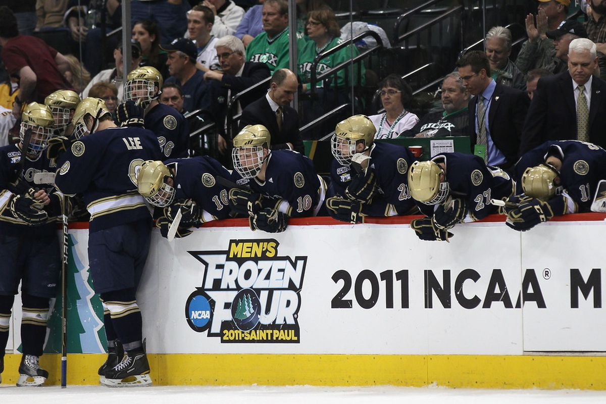 Jeff Jackson will lead his gold helmet clad Notre Dame Fighting Irish into Hockey East this October.