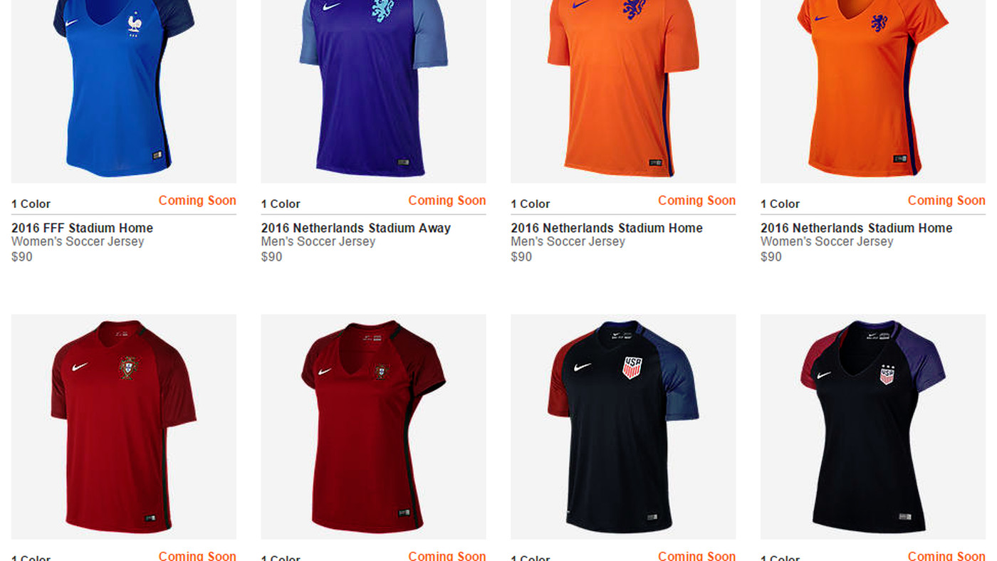 Nike Soccer thinks women's jerseys need to show more skin ...