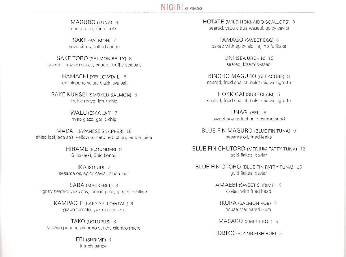 Eight Sushi Lounge menu 4