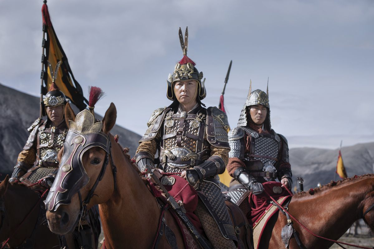 three soldiers atop horses