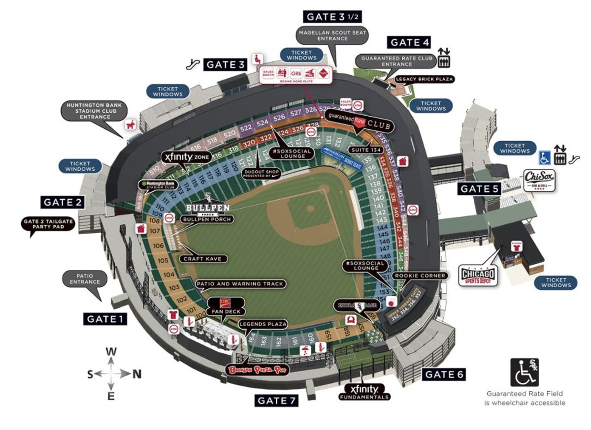 An Overview Of Guaranteed Rate Field S Seating Sections Gates Restaurants And Souvenir
