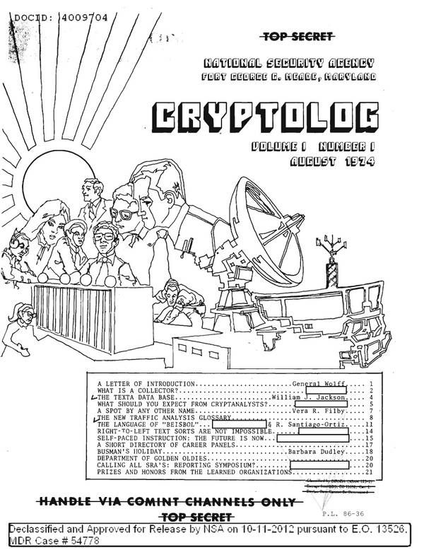 April 1983 cover of Cryptolog