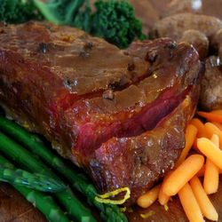 This delicious glazed corned beef is baked instead of boiled.