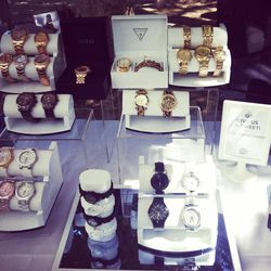 Guess watches on display