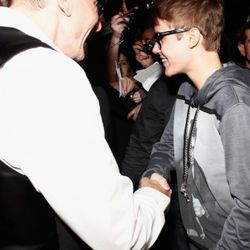 Justin Bieber arrives at the Dolce & Gabbana party in Milan