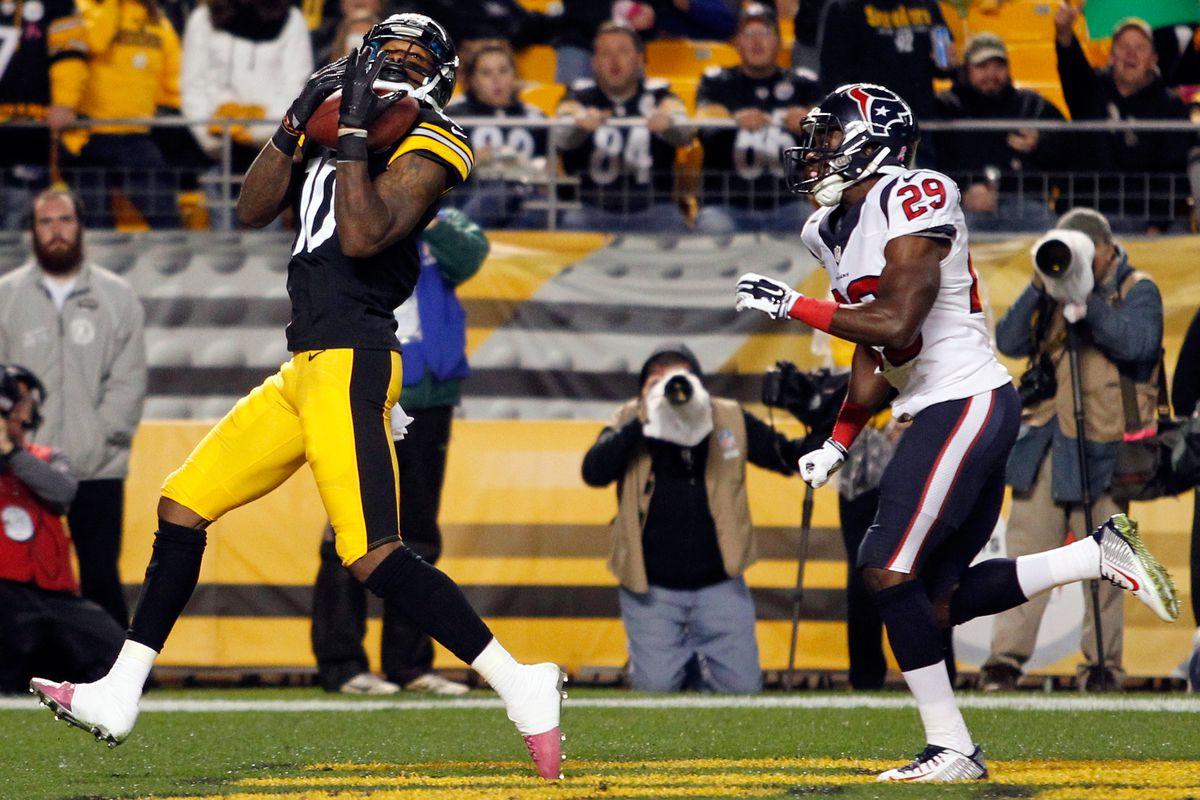 Rookie Martavis Bryant strikes end zone gold in 1st NFL catch.