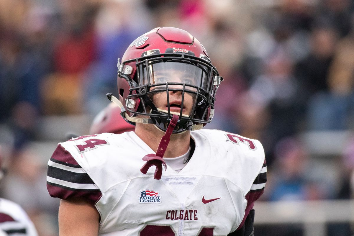 Alec Wisniewski of the Colgate Raiders during a game against the Army Black Knights at Michie Stadium.