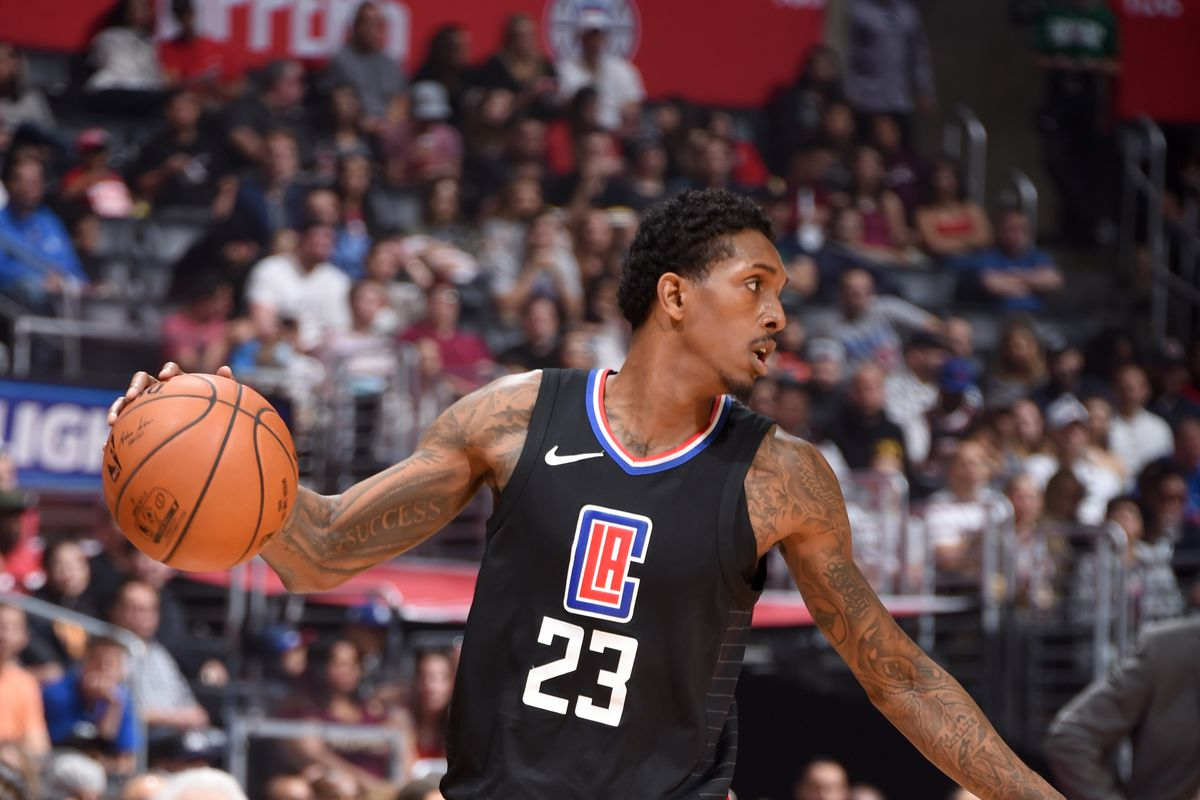 Lou Williams dribbles the ball