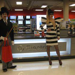 Gaga and her friend Charlie Chaplin.
