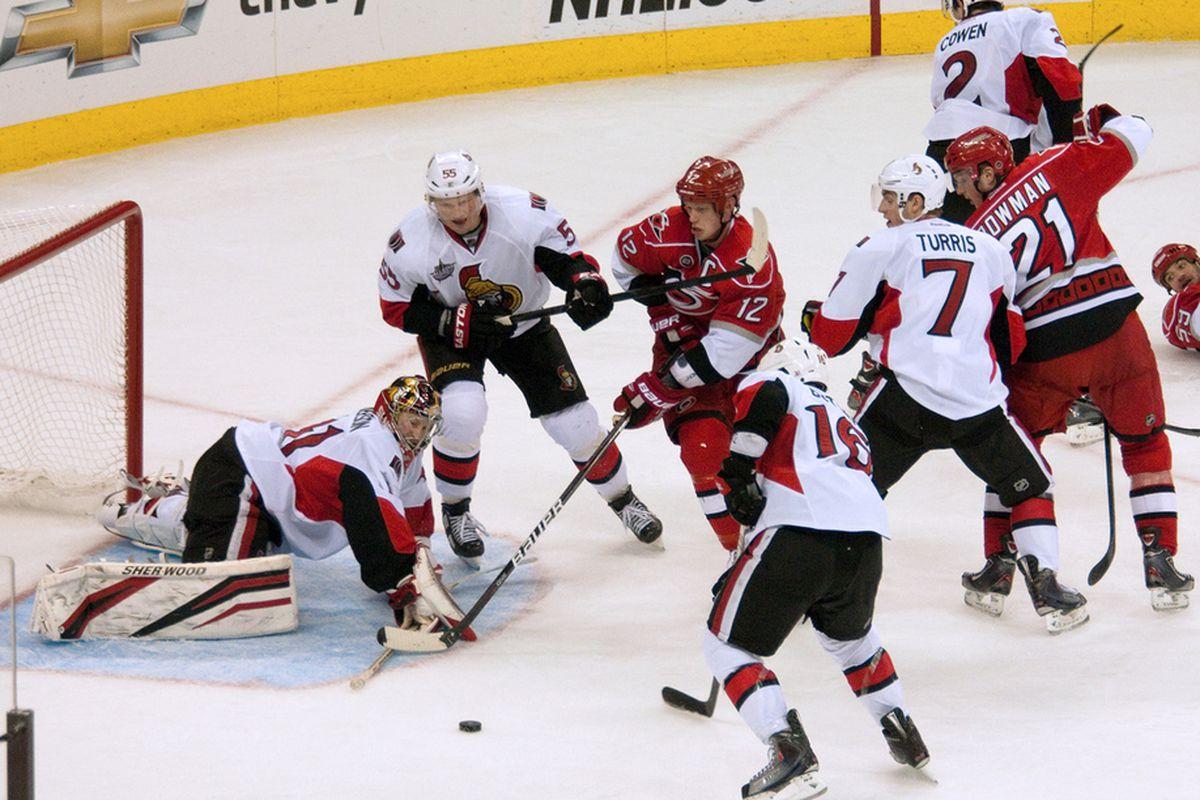 December 23, 2012. Carolina Hurricanes vs. Ottawa Senators, PNC Arena, Raleigh, NC.