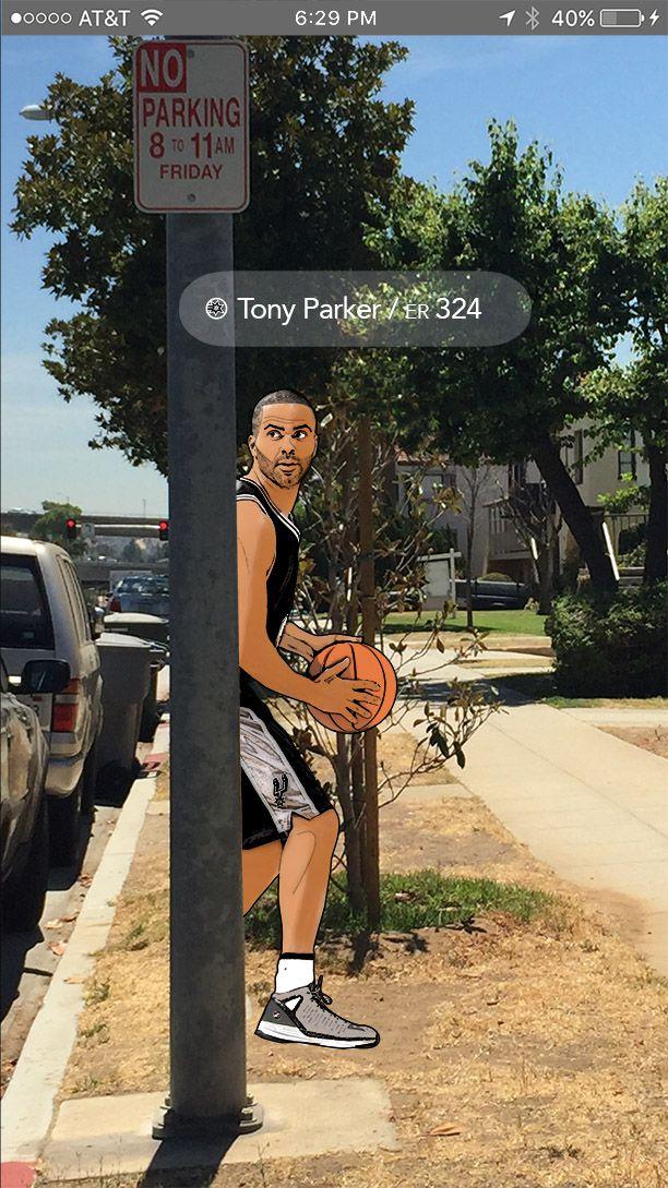 GoSpurs AR Screenshot: Tony Parker