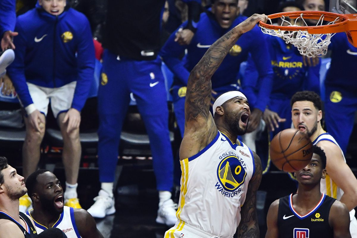 f28087ad1 Warriors Breakdown  A look at DeMarcus Cousins  debut as a Warrior ...