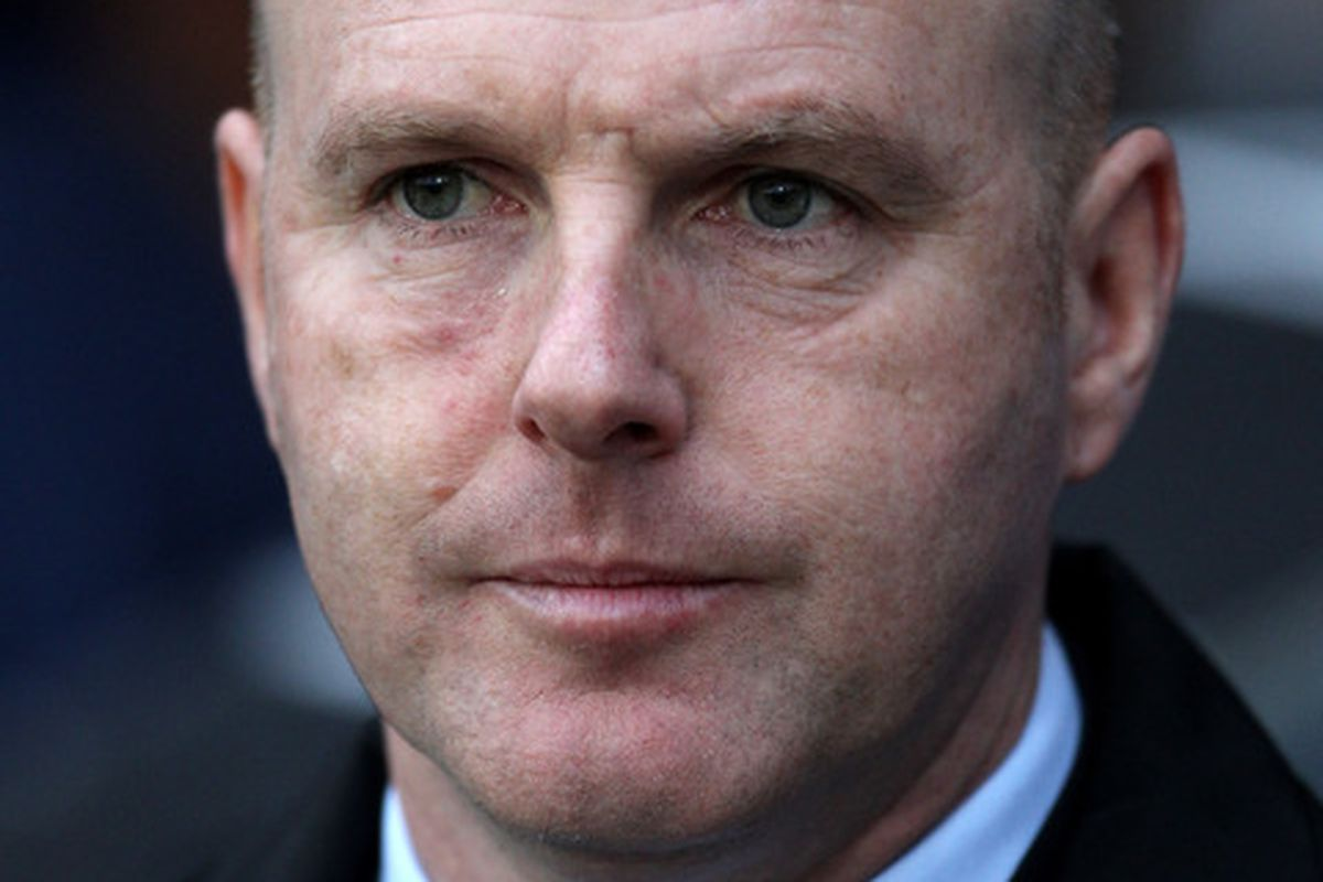 BLACKBURN ENGLAND - JANUARY 23:  Blackburn Rovers Manager Steve Kean. (Photo by Alex Livesey/Getty Images)