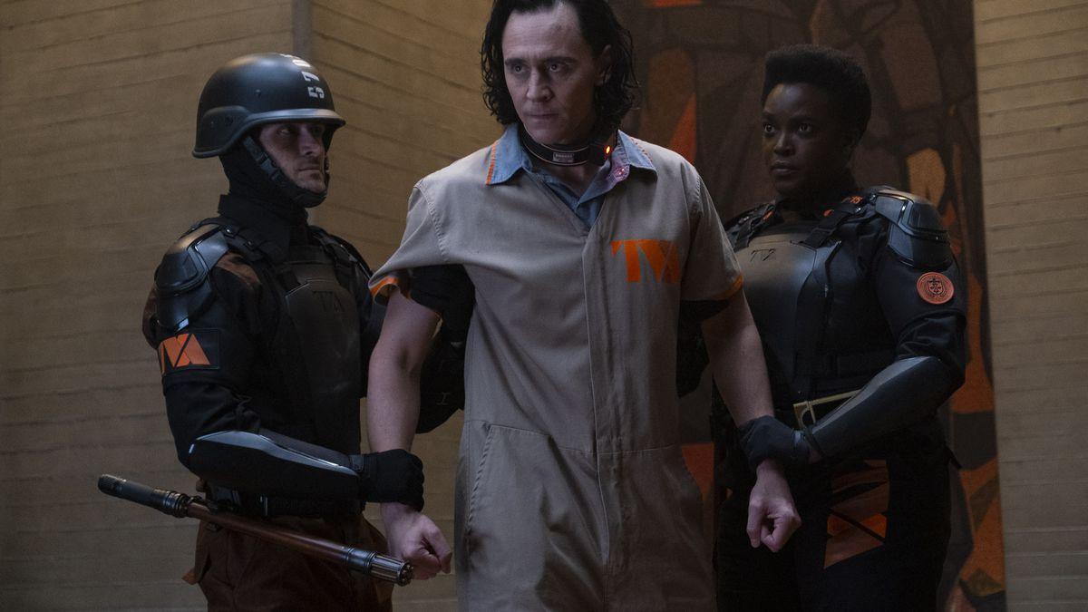 Tom Hiddleston playing Loki