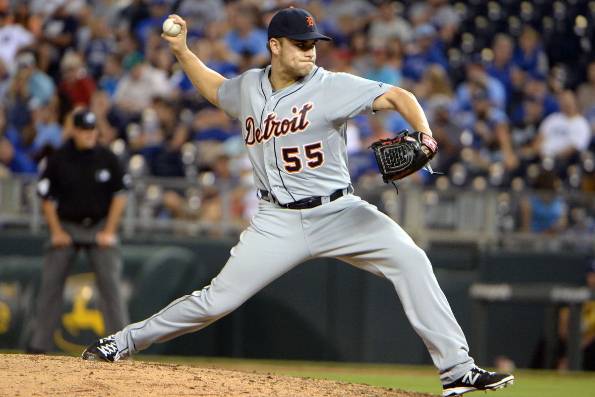 Chad Smith, pitching for the Detroit Tigers.