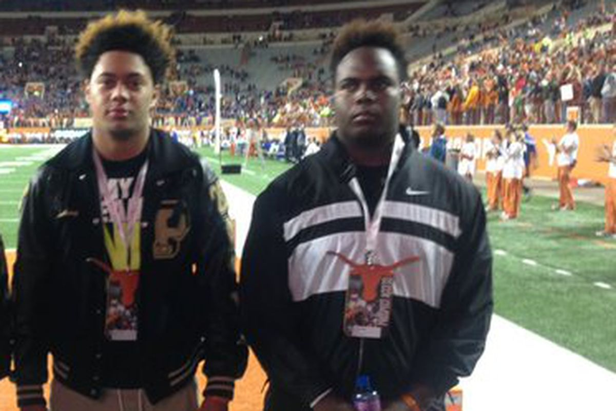 Deiontae Watts (right) visiting Texas with Anthony Hines