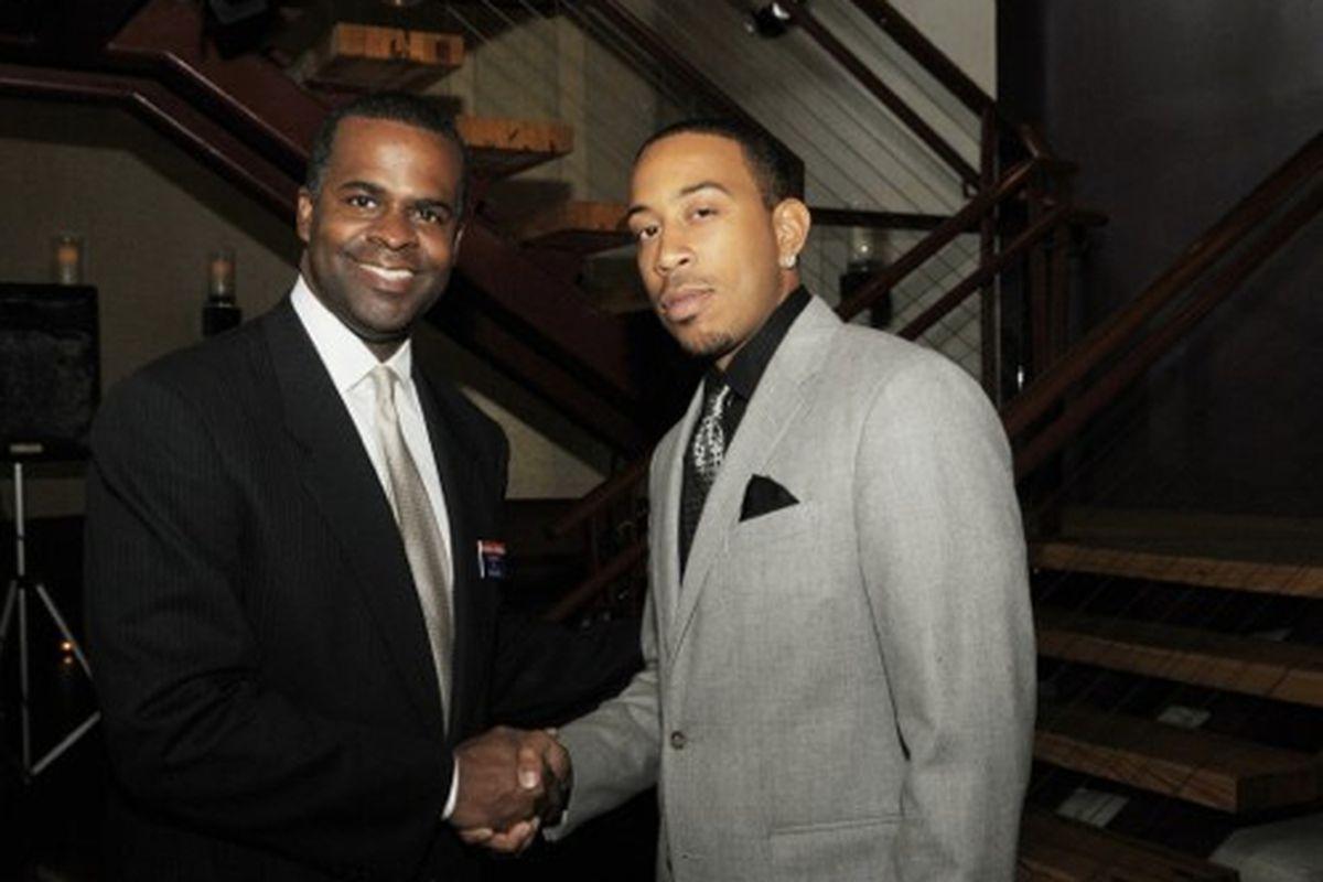 Ludacris and Mayor Kasim Reed at Straits.