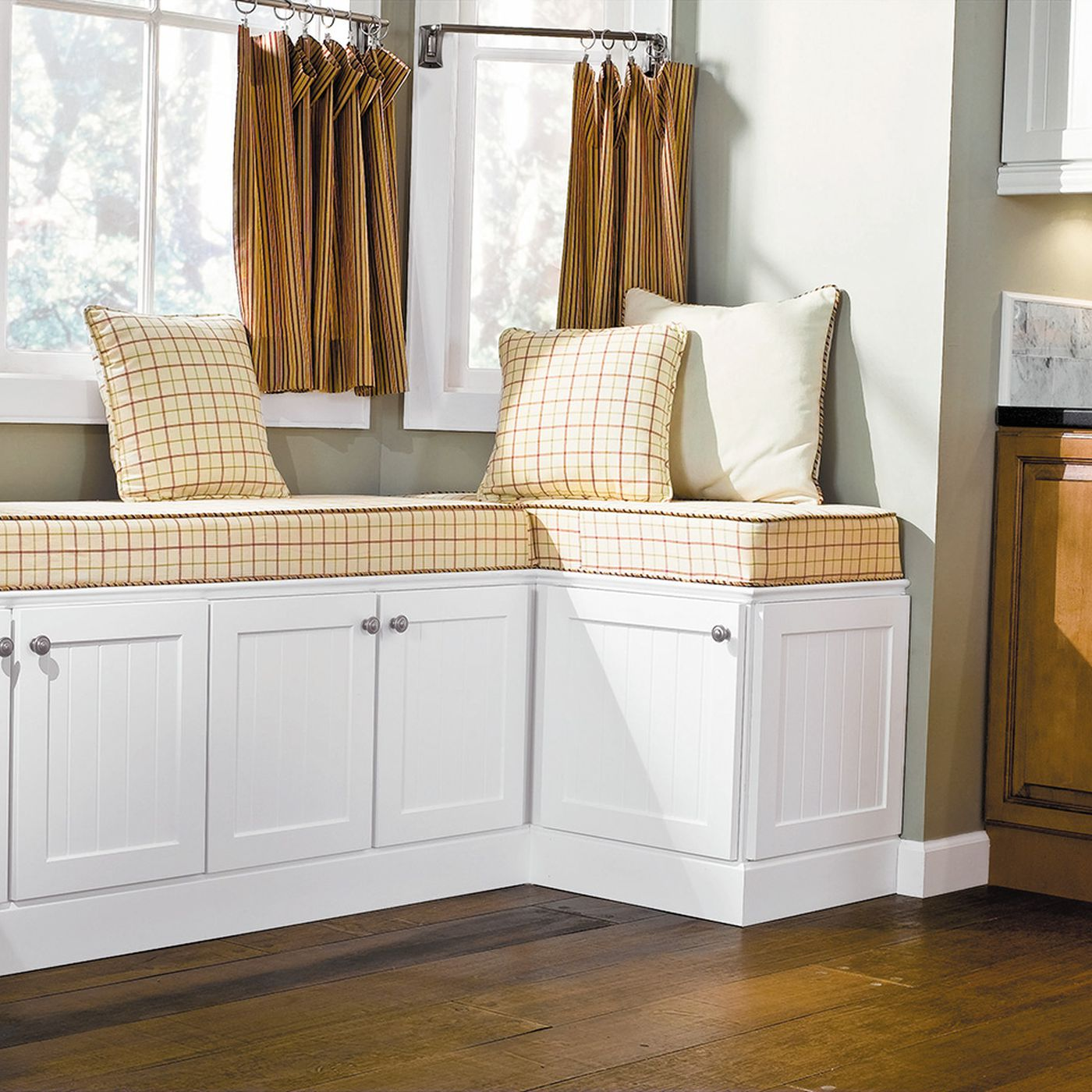 Build A Custom Look Window Seat Using Stock Kitchen Cabinets This Old House