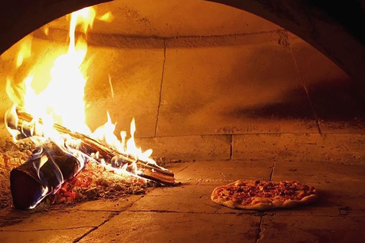The Sit Down restaurant's pizza oven