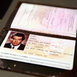 James Bond's passport