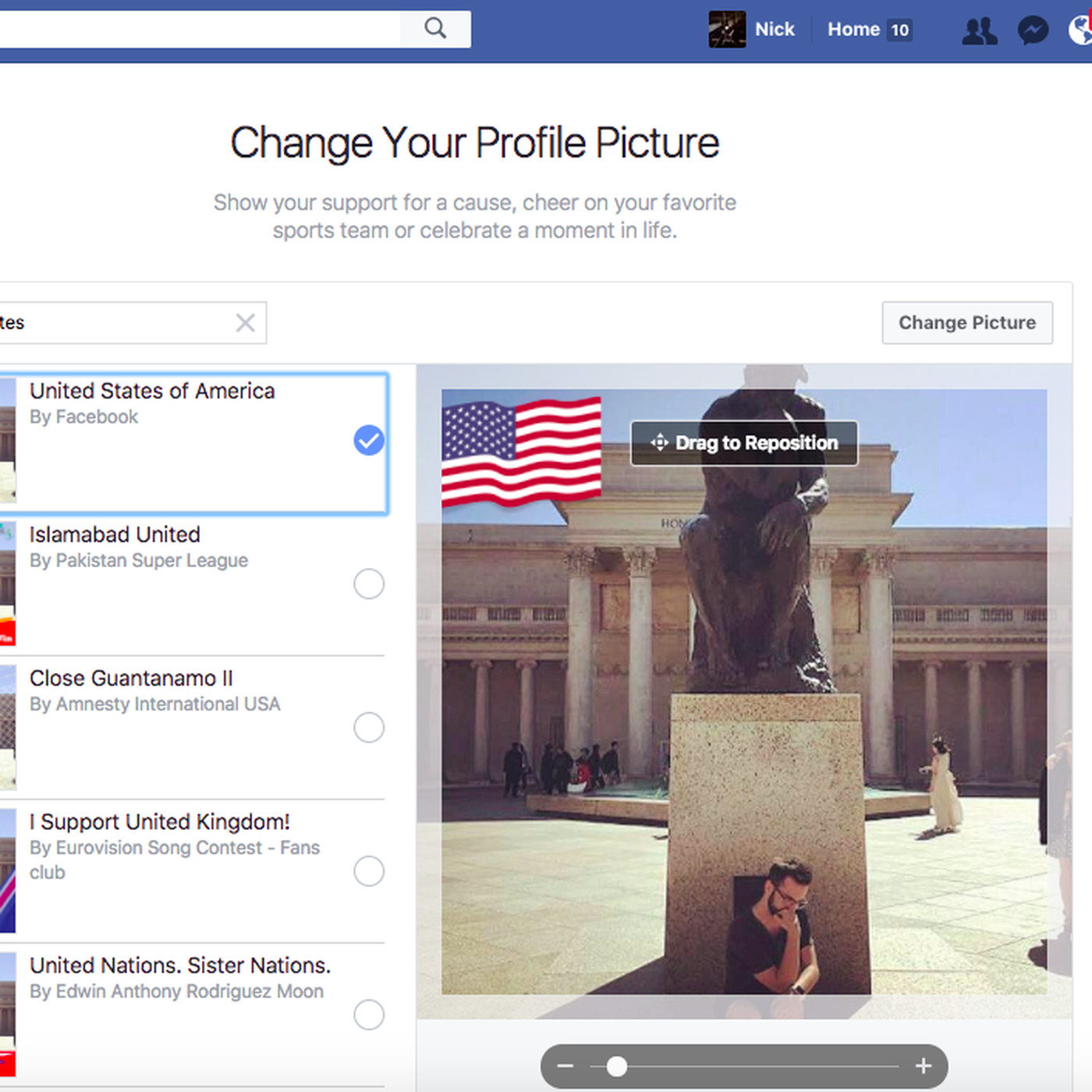 6442fdaff536 Facebook s new profile flags let you proudly proclaim your country of  origin - The Verge