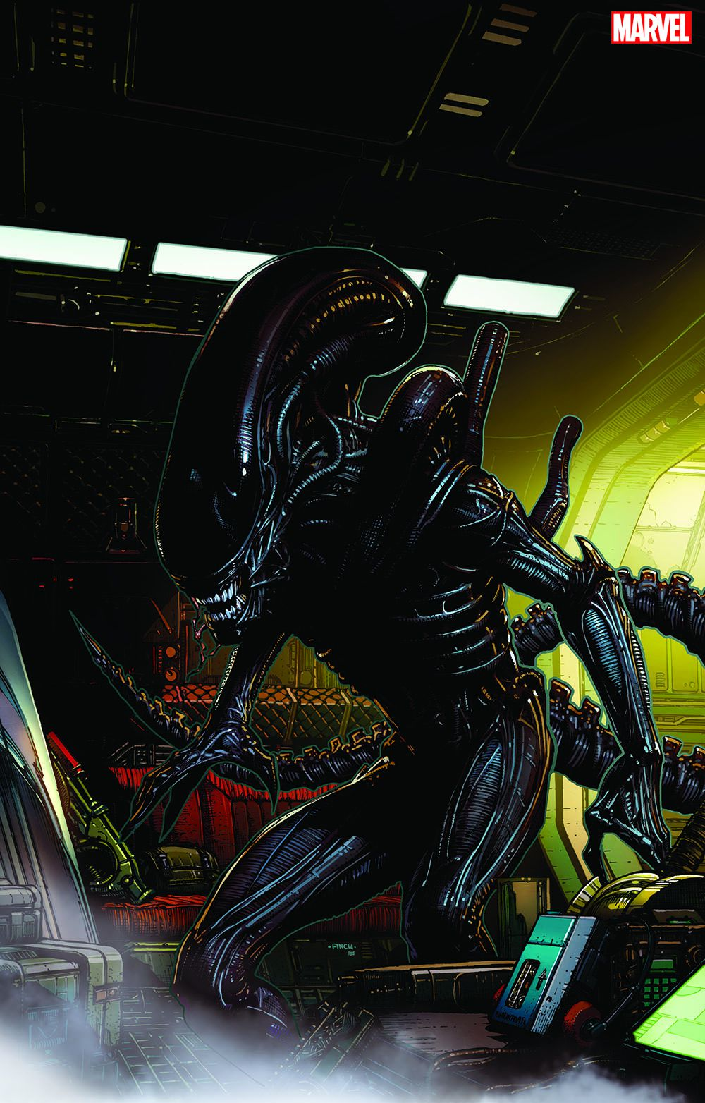 """Marvel hasn't released any specific tiles or creative teams to work on projects related to the characters. But the company released some teaser images that show Alien's """"Big Chap"""" Xenomorph and Predator, who appears to targeting the Avengers in the photo."""