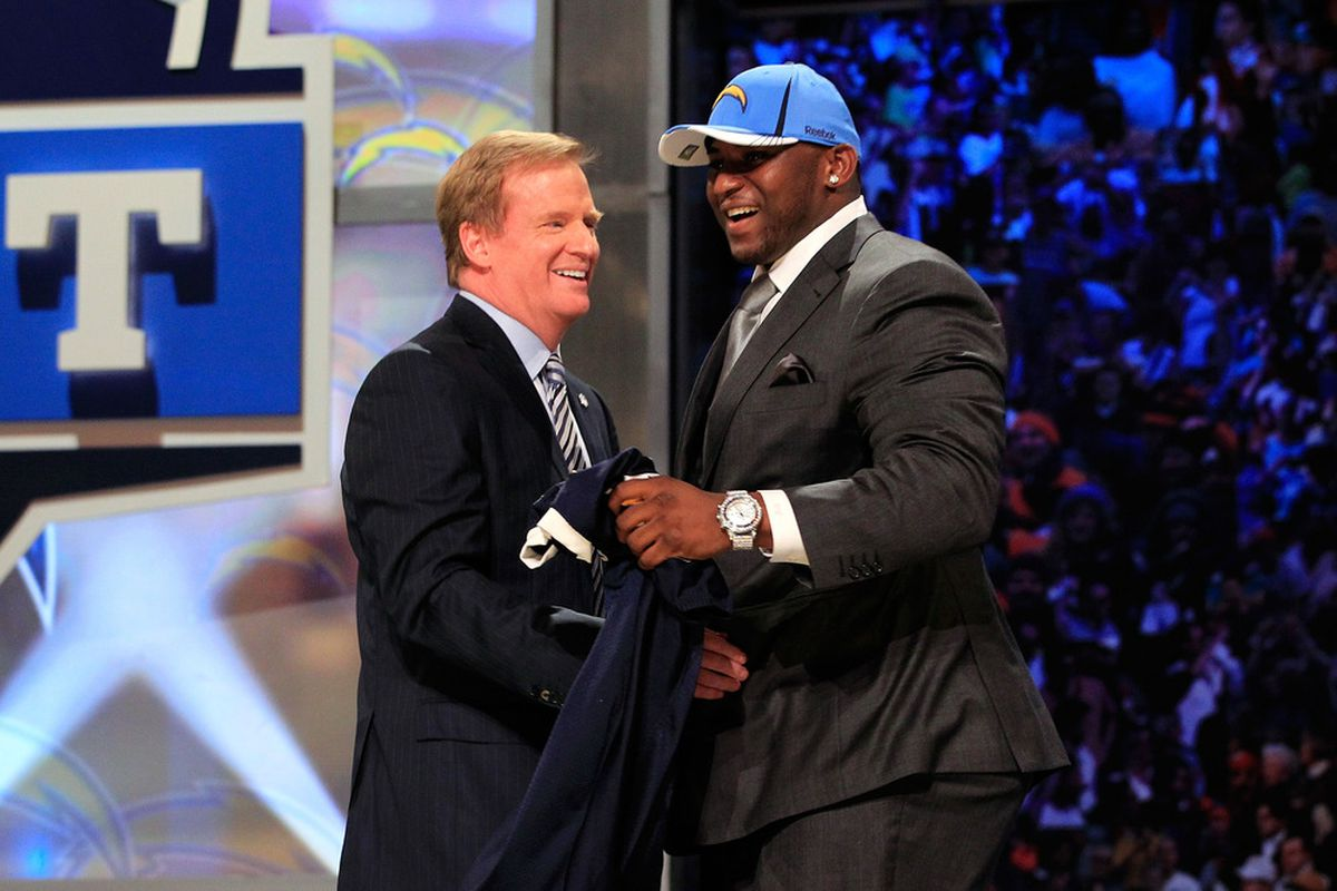 """""""Congratulations on being drafted, now GTFO.""""  (Photo by Chris Trotman/Getty Images)"""