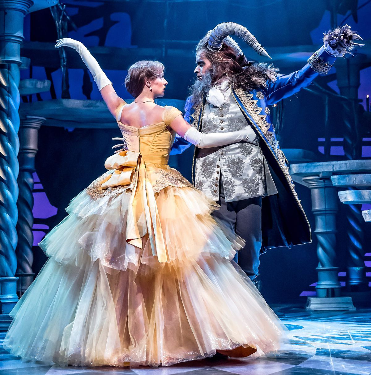 """Erica Stephan and Brandon Contreras star in """"Disney's Beauty and the Beast"""" at the Drury Lane Theatre in Oakbrook Terrace. 