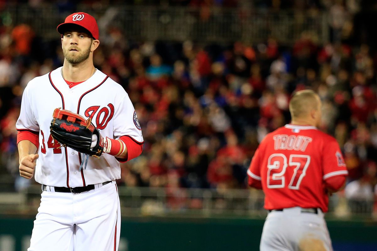 Bryce Harper, Mike Trout hit 150th career home run on exact age