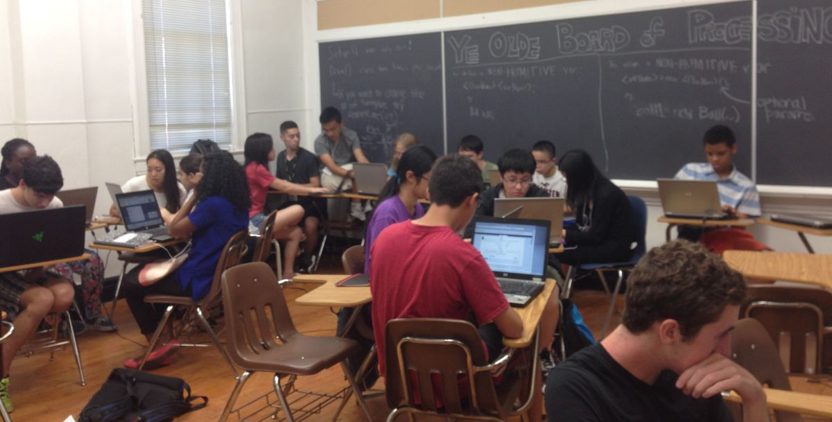 Students attending CSTUY-SHIP learned from Stuyvesant computer science teachers.