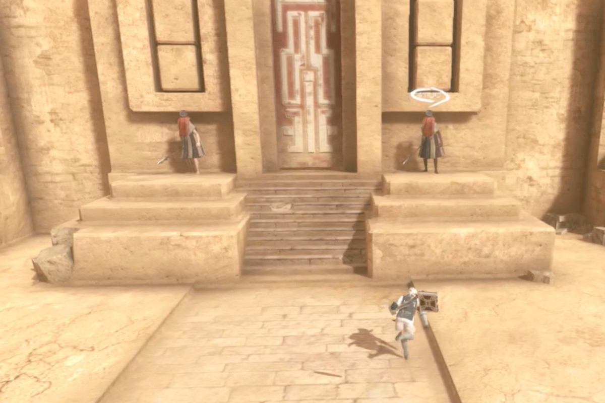 Nier Replicant use the Royal Compass to navigate the Desert's sandstorm