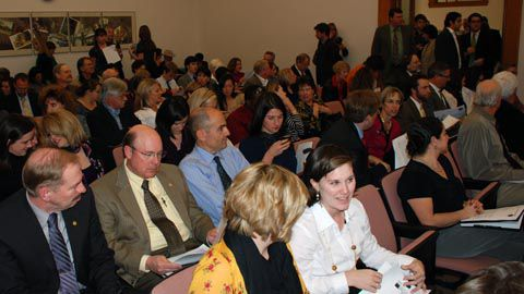 Lobbyists, bureaucrats and others packed the JBC hearing room during the governor's budget briefing Nov, 10.