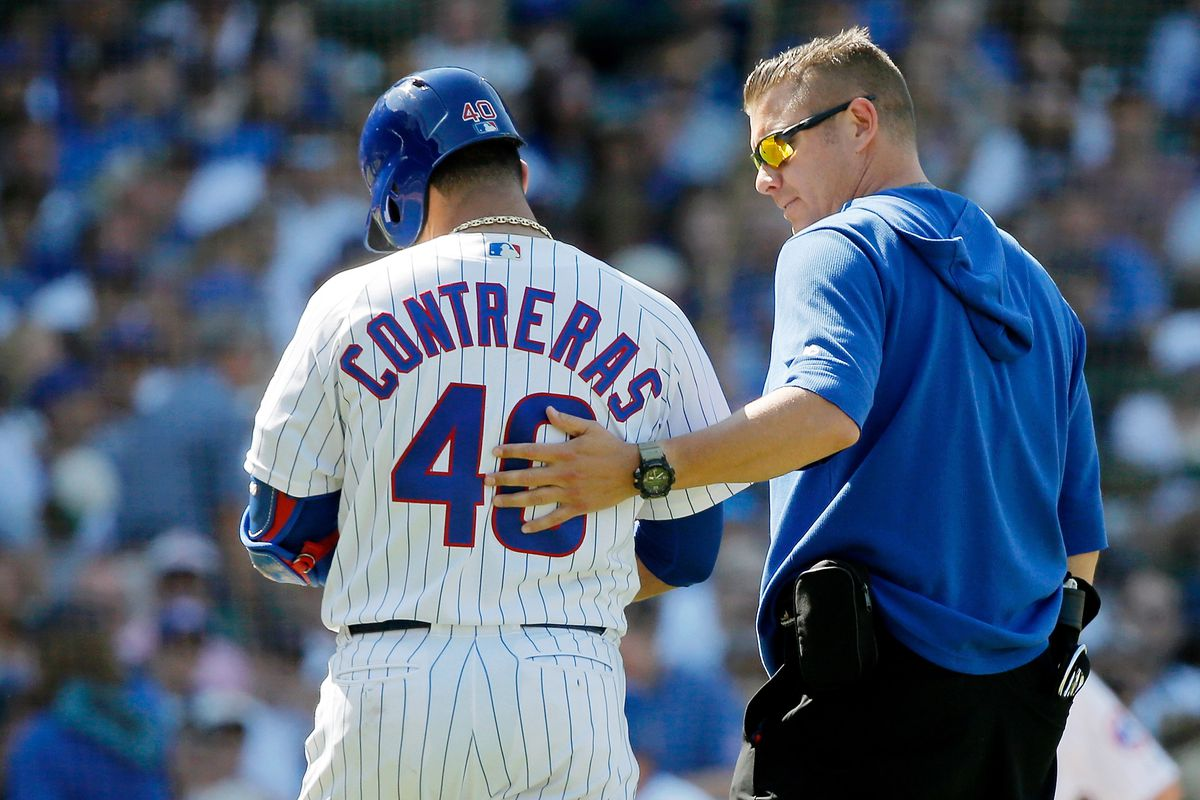 new arrival d77f9 8e6bd Cubs' Willson Contreras to miss four weeks with hamstring ...