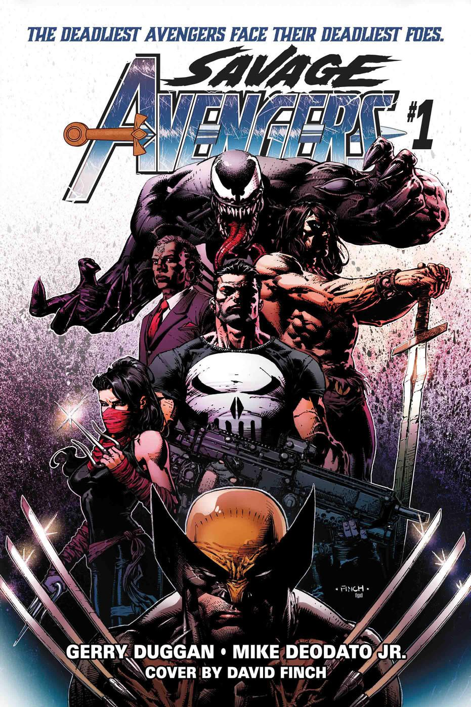 The cover of Savage Avengers #1, Marvel Comics (2019).