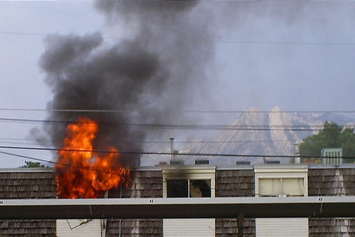 A fire broke out at the Richmond Apartments located at 5490 South 235 East.