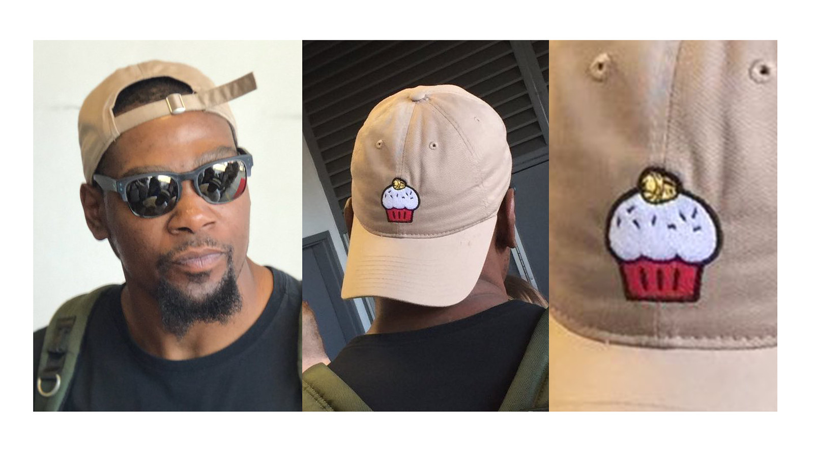 Kevin Durant Wore A Cupcake Hat To A Charity Softball Game