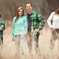 The Mansfield family — Hunter, left, Madison, Mark, Theresa and Canyon — in a photo taken in 2016.