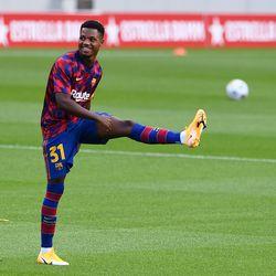 Ansu Fati was back after a hip injury