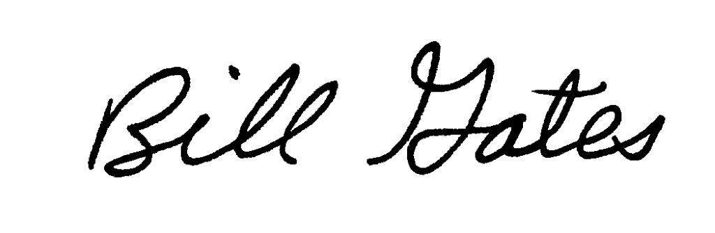 bill gates signature