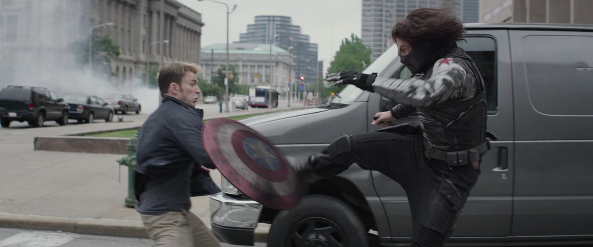 big fight in captain america: the winter soldier