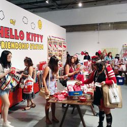 Serious retail therapy at the Hello Kitty Friendship Station pop-up shop.