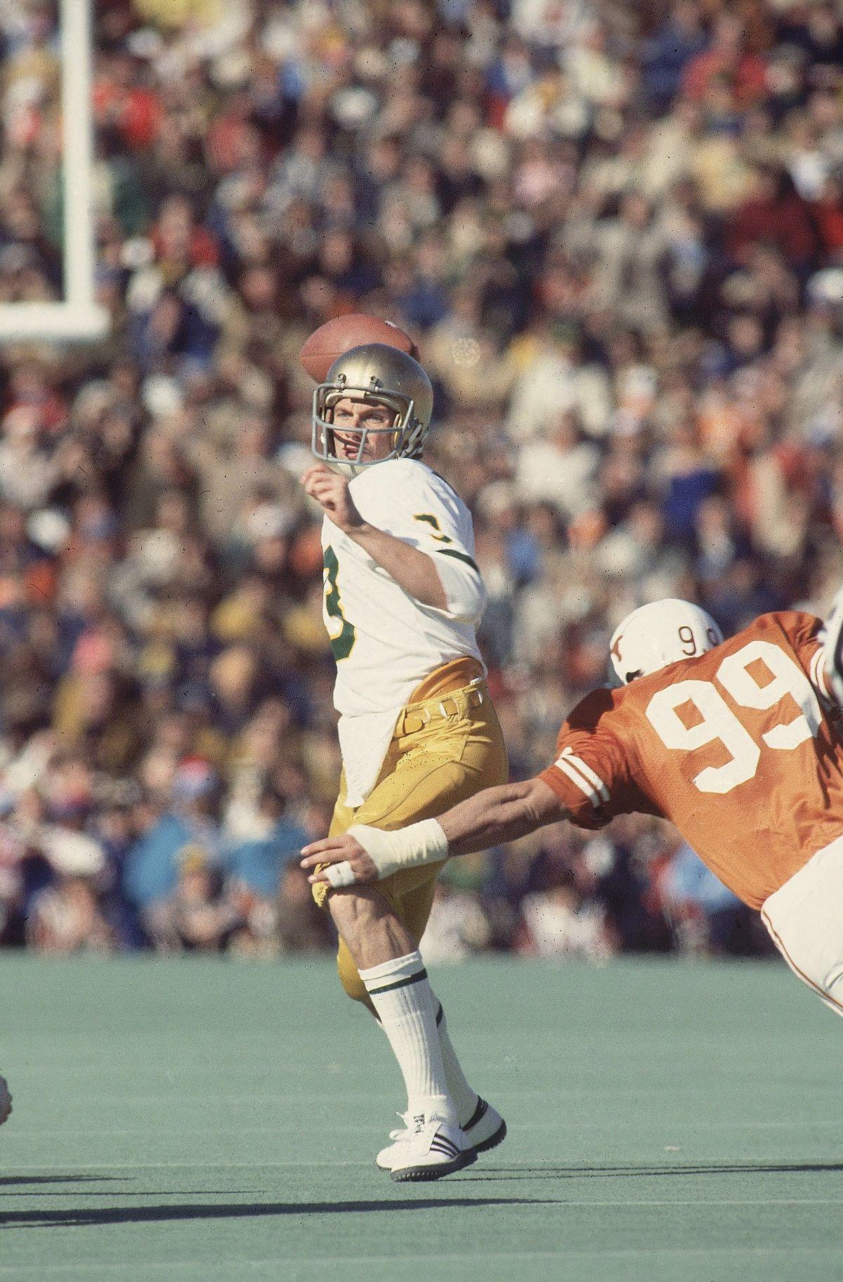 Notre Dame QB Joe Montana, 1978 Cotton Bowl