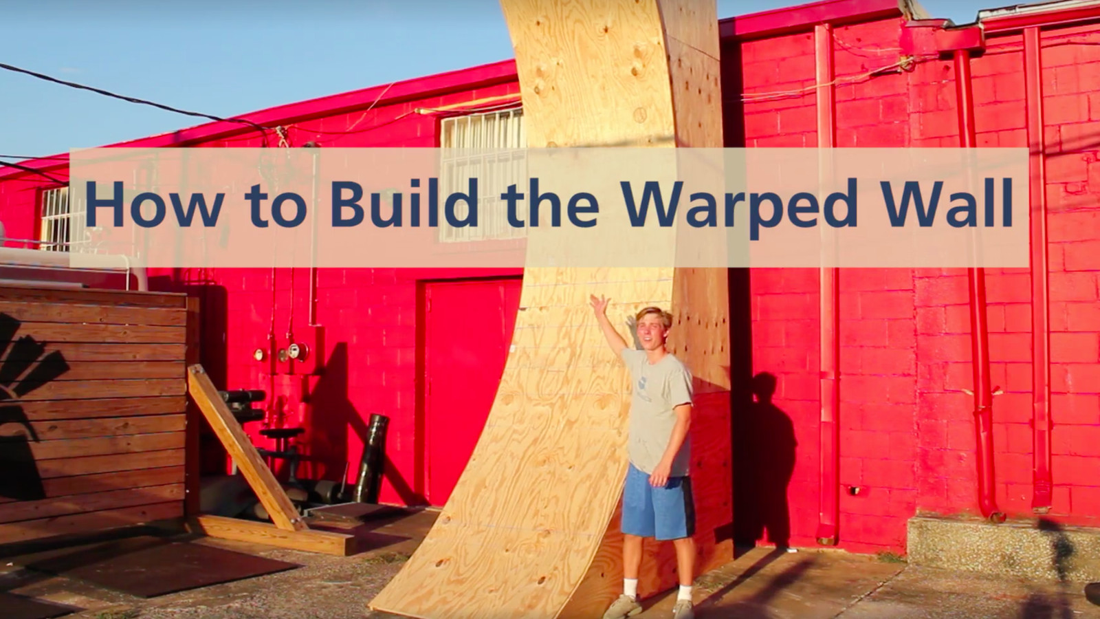 Heres A Warped Wall Being Built In Less Than Minute