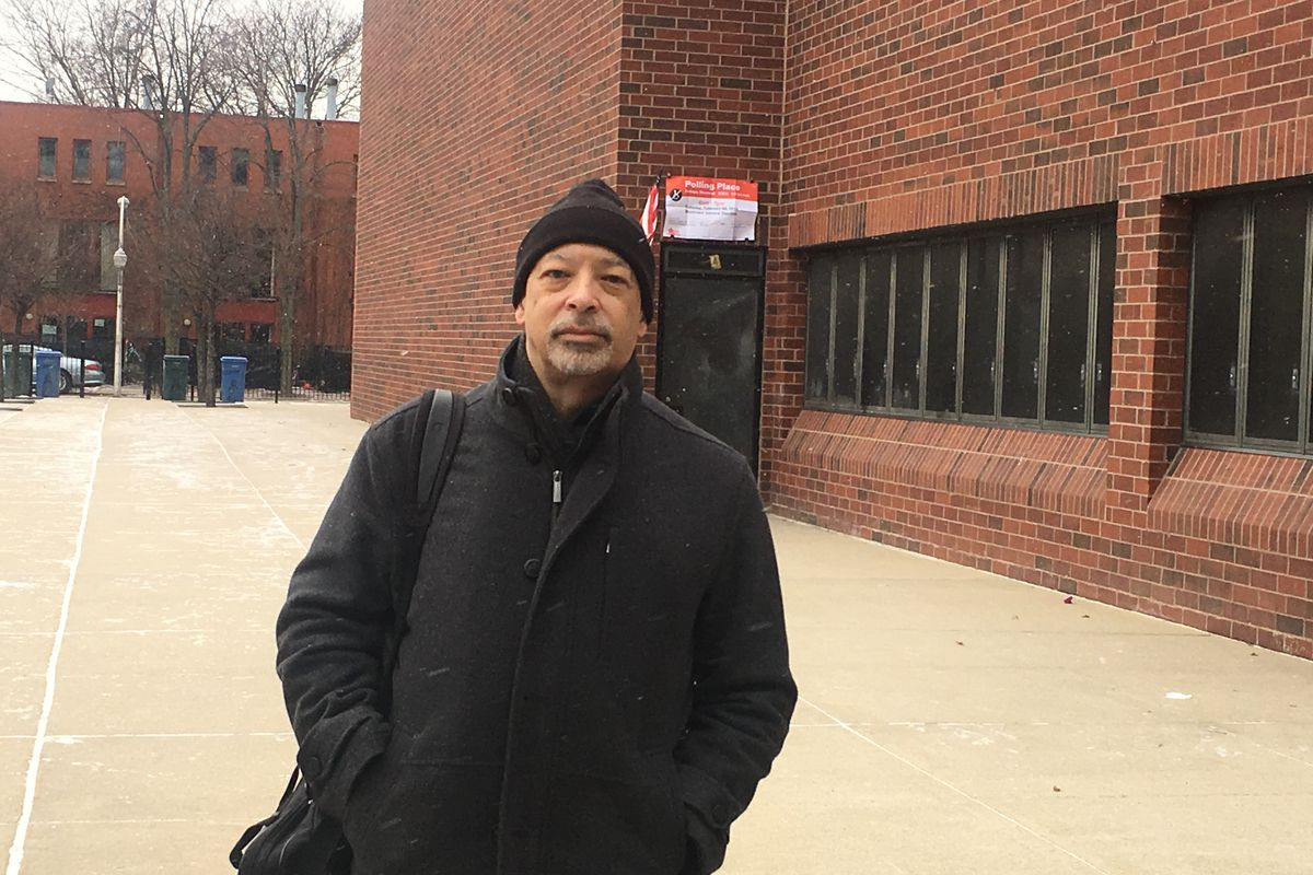 """Chicago voter Chris Heron, 62, of the South Loop, said he was spurred by """"the desire for change,"""" in voting for Lori Lightfoot for mayor in elections Feb. 26, 2019."""