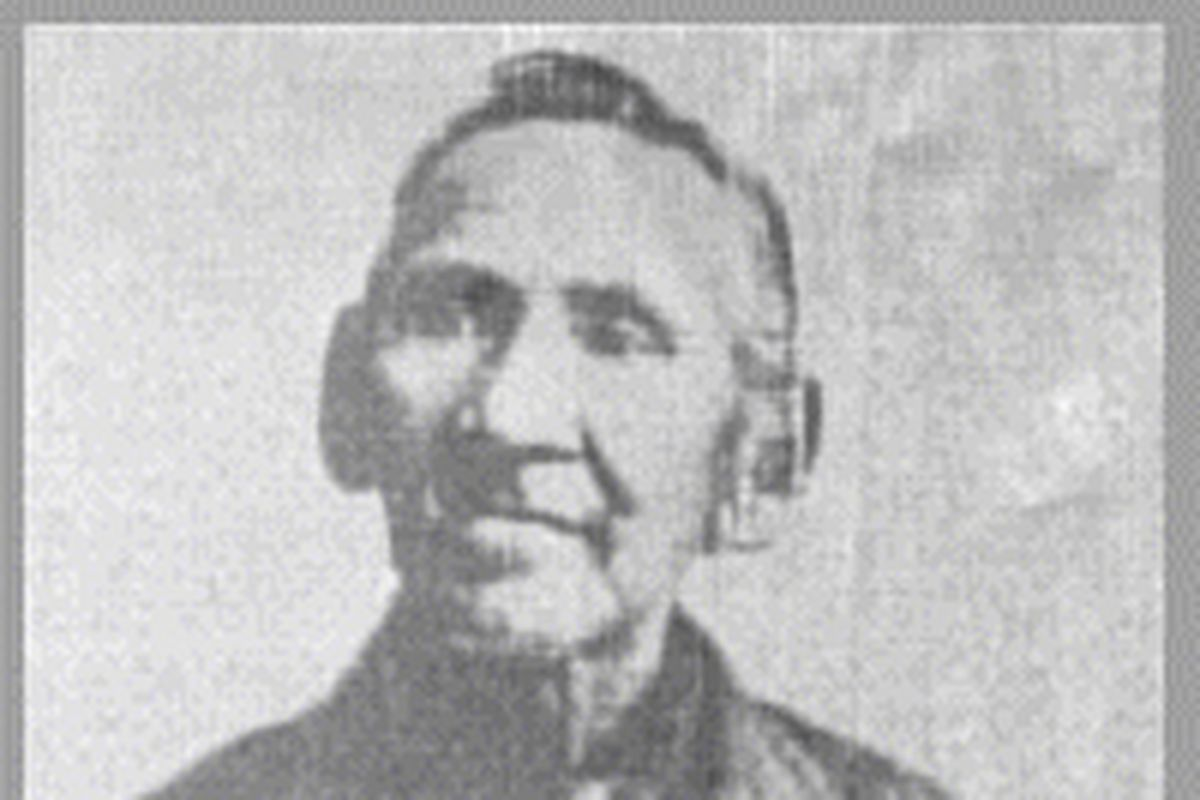 """Simon Pokagon, a member of the Potawatomi Nation, wrote """"A Redman's Rebuke"""" at the 1893 World's Columbian Exposition in Chicago to protest the rationale behind the celebration."""