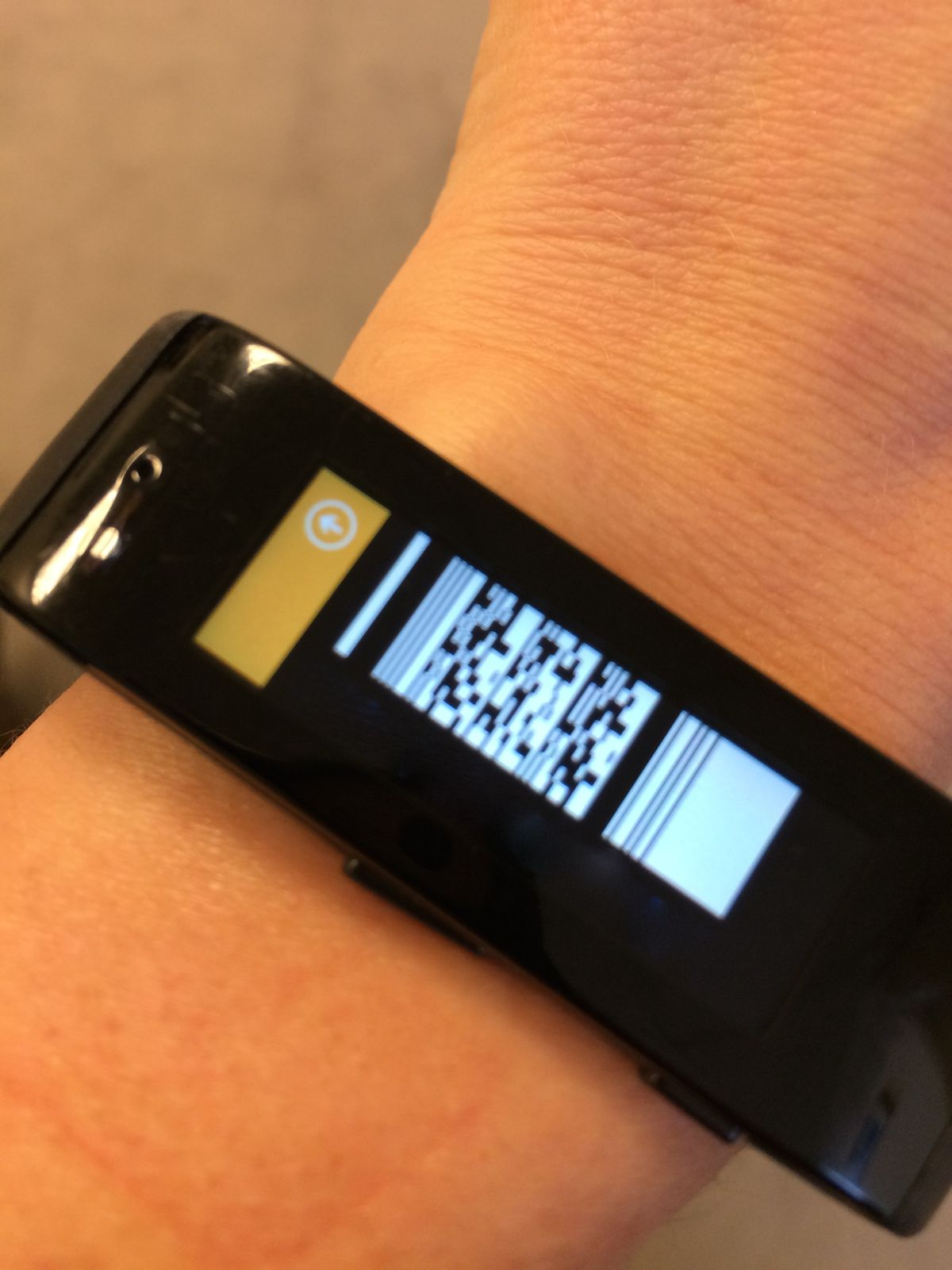 Here's how your wrist looks just before paying for something at Starbucks.