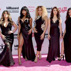 Fifth Harmony's Ally Brooke (in Jovani), Normani Kordei (in Naeem Khan), Dinah Jane (in Balmain), Lauren Jauregui (in La Perla), and Camila Cabello (in Alexandre Vauthier Haute Couture)