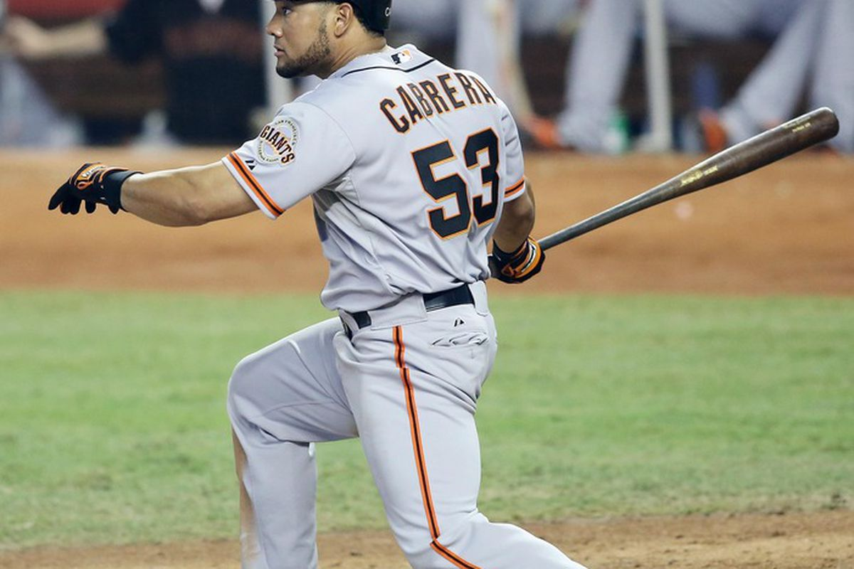 The Melk Man has delivered. Melky Cabrera is leading the National League in batting average after a torrid Month of May. Robert Mayer-US PRESSWIRE